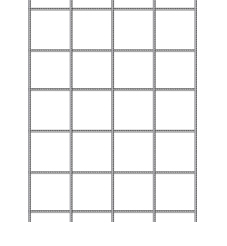A rectangular cutting of square mesh against a white background