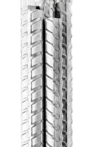 Five N Grade Galvanised Reinforcing Bar or Rebar bundled together